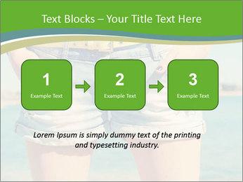 Stylish denim shorts PowerPoint Template - Slide 71