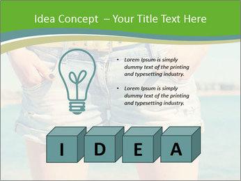 Stylish denim shorts PowerPoint Template - Slide 80