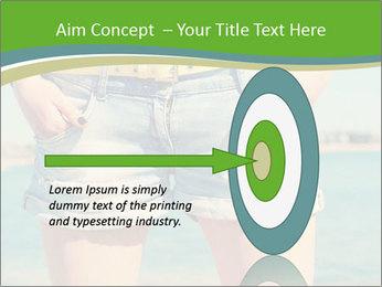 Stylish denim shorts PowerPoint Template - Slide 83