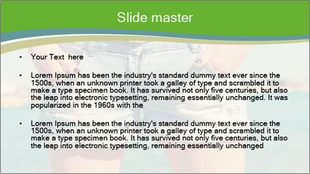 Stylish denim shorts PowerPoint Template - Slide 2