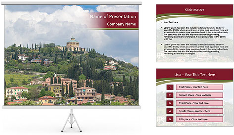 View on Sanctuary PowerPoint Template