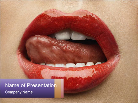 Sexy Lips PowerPoint Template