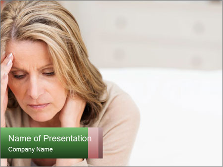 Woman suffering PowerPoint Templates