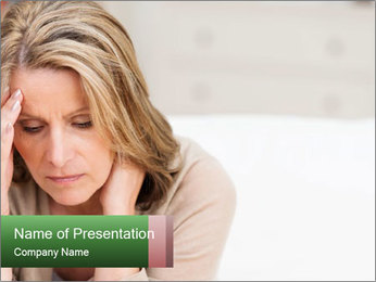 Woman suffering PowerPoint Template