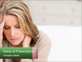 Woman suffering PowerPoint Template