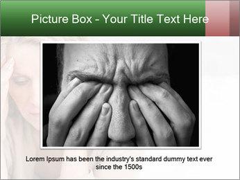 Woman suffering PowerPoint Template - Slide 16