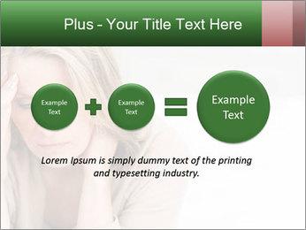Woman suffering PowerPoint Template - Slide 75