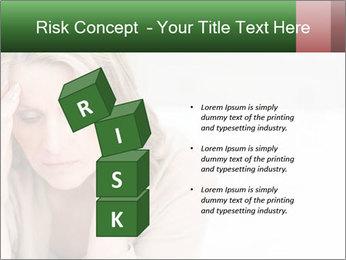Woman suffering PowerPoint Template - Slide 81