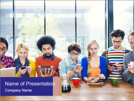Multiethnic Group PowerPoint Template