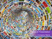 Tunnel of media PowerPoint Templates