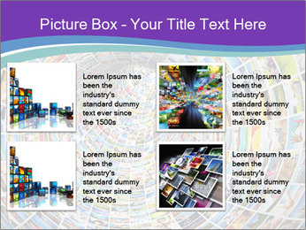 Tunnel of media PowerPoint Template - Slide 14