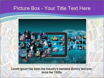 Tunnel of media PowerPoint Template - Slide 15