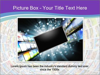 Tunnel of media PowerPoint Template - Slide 16