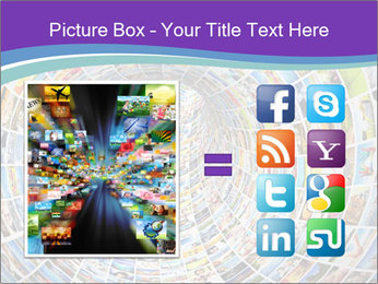 Tunnel of media PowerPoint Template - Slide 21