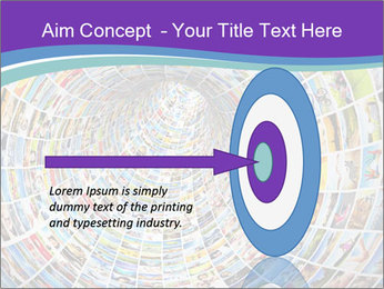 Tunnel of media PowerPoint Template - Slide 83