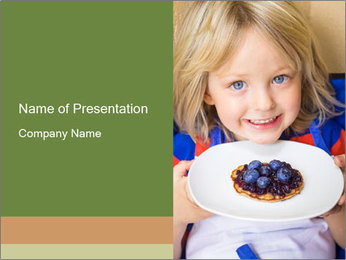 Adorable child PowerPoint Template - Slide 1