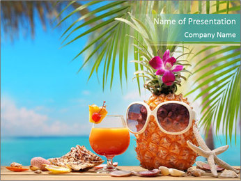 Ms ananas PowerPoint Template