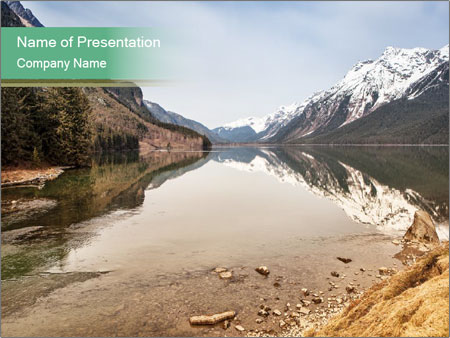 Alaska in early spring PowerPoint Templates