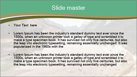 Alaska in early spring PowerPoint Template - Slide 2