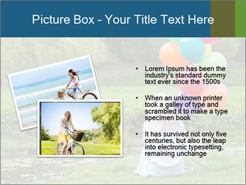Woman with colorful balloons PowerPoint Template - Slide 20