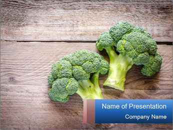 Fresh broccoli PowerPoint Template