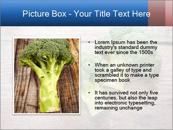 Fresh broccoli PowerPoint Template - Slide 13