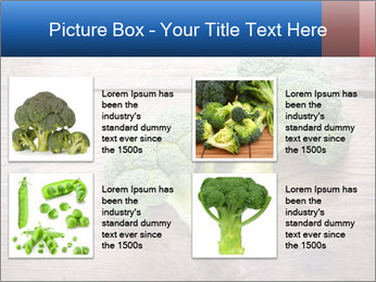 Fresh broccoli PowerPoint Template - Slide 14