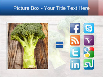 Fresh broccoli PowerPoint Template - Slide 21