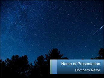 A shot of the milky way PowerPoint Template - Slide 1