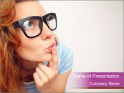 Portrait of Funny girl PowerPoint Templates