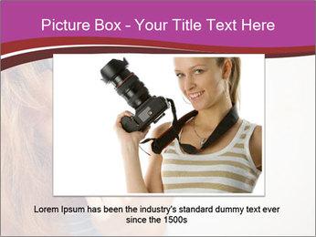 Portrait of Funny girl PowerPoint Template - Slide 16
