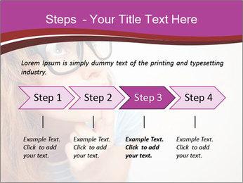 Portrait of Funny girl PowerPoint Template - Slide 4