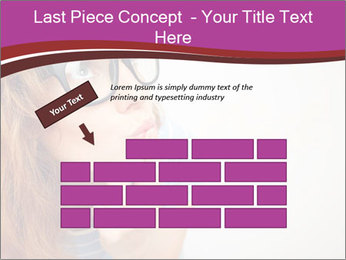 Portrait of Funny girl PowerPoint Templates - Slide 46