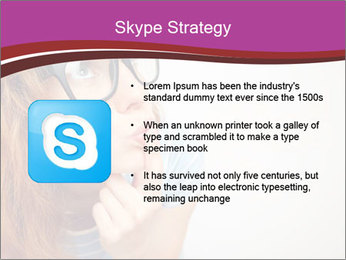 Portrait of Funny girl PowerPoint Templates - Slide 8
