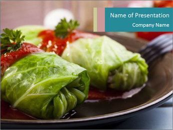 Cabbage stuffed PowerPoint Template - Slide 1