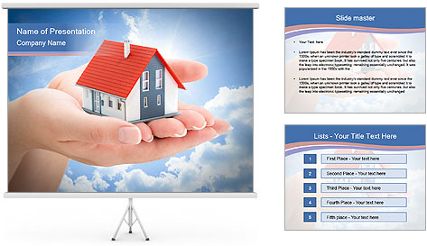 Serenity real estate PowerPoint Template
