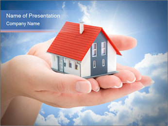 Serenity real estate PowerPoint Template - Slide 1