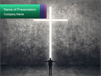 Light Cross PowerPoint Template