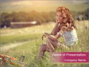Dreamy Village Girl PowerPoint Template
