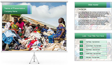 African Village People PowerPoint Template