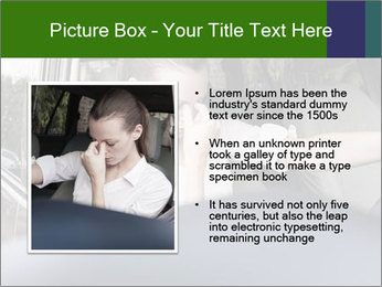 Stressed Woman In Car PowerPoint Template - Slide 13