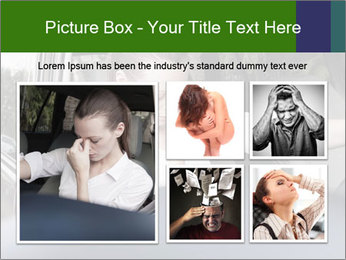 Stressed Woman In Car PowerPoint Templates - Slide 19