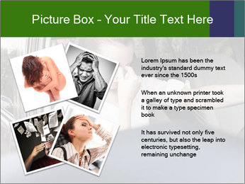 Stressed Woman In Car PowerPoint Templates - Slide 23