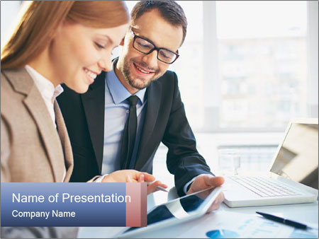 Smiling Colleagues PowerPoint Templates