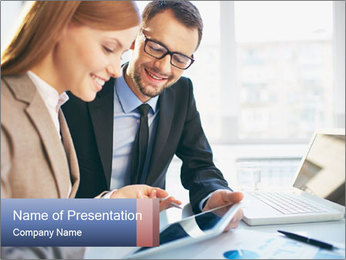 Smiling Colleagues PowerPoint Template