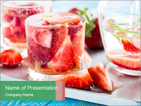 Vitamin Drink PowerPoint Template