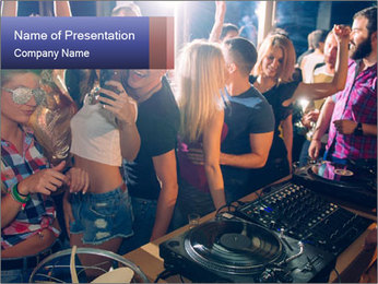 Fun Party PowerPoint Template - Slide 1