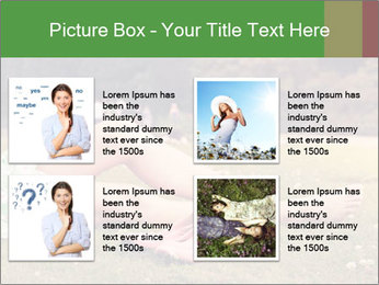 Woman Rests On Grass PowerPoint Template - Slide 14
