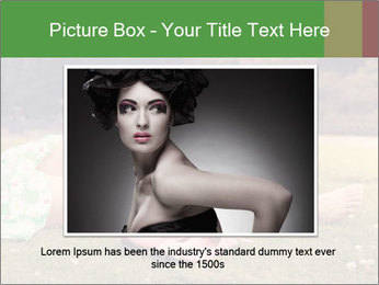 Woman Rests On Grass PowerPoint Template - Slide 15