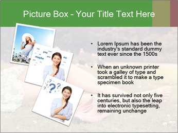 Woman Rests On Grass PowerPoint Template - Slide 17